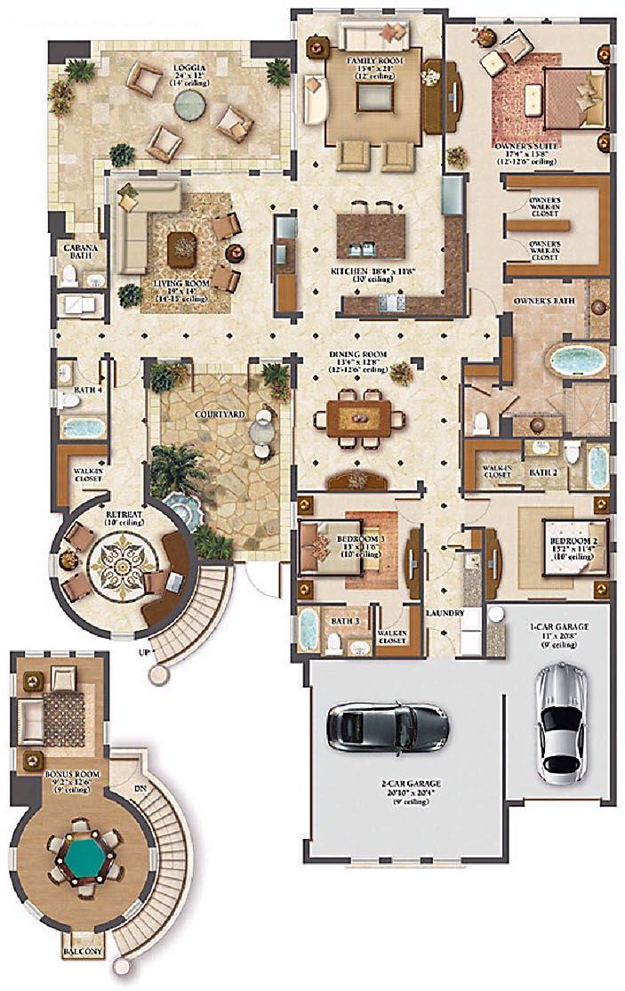 Multi million dollar home floor plans for Million dollar floor plans