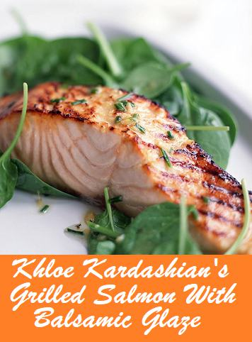 Image with the words Grilled Salmon placed on the image