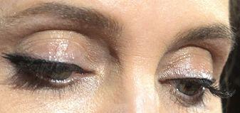 Picture of Angelina Jolie eyes, eyelashes, and eyebrows