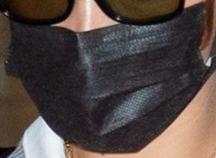 Picture of Bella Hadid coronavirus mask