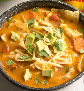 Image of a Mexican Tortilla Soup