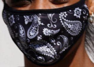 Picture of Britt Stewart coronavirus mask