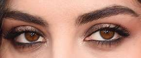Picture of Charli XCX eyeliner, eyeshadow, and eyelash enhancements