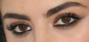 Picture of Charli XCX eyeliner, eyeshadow, and eyelash enhancements