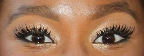 Picture of Coco Jones eyeliner, eyeshadow, and eyelash enhancements