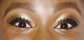 Picture of Coco Jones eyeliner, eyeshadow, and eyelash enhancements