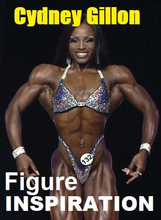 Picture of Cydney Gillon with the words Figure Inspiration