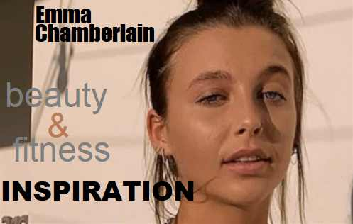 Picture of Emma Chamberlain with the words Weight Loss Inspiration