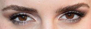 Picture of Emma Watson eyeliner, eyeshadow, and eyelash enhancements