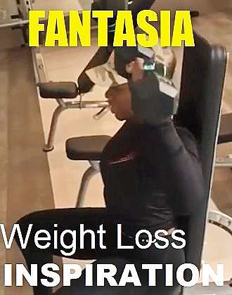Picture of Fantasia Barrino with the words Weight Loss Inspiration
