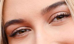 Picture of Hailey Baldwin eyeliner, eyeshadow, and eyelash enhancements