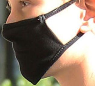 Picture of Hailey Bieber coronavirus mask