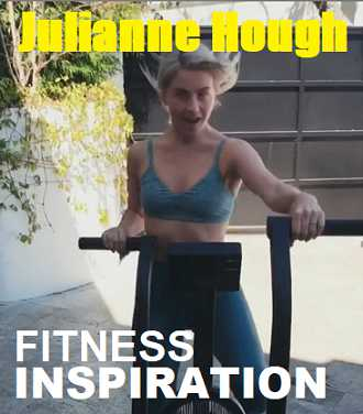 Picture of Julianne Hough with the words Fitness Inspiration