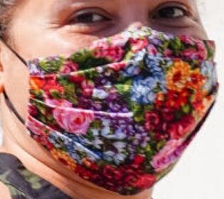 Picture of Justina Machado coronavirus mask