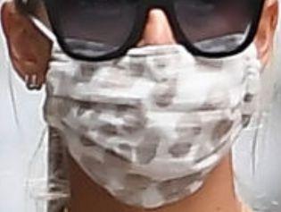 Picture of Kaley Cuoco coronavirus mask