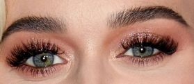 Picture of Katy Perry eye makeup, and eyebrows