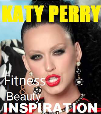 Picture of Katy Perry with the words Fitness Inspiration
