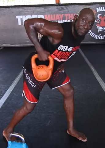 WWE Superstars shares kettlebell workout tips.