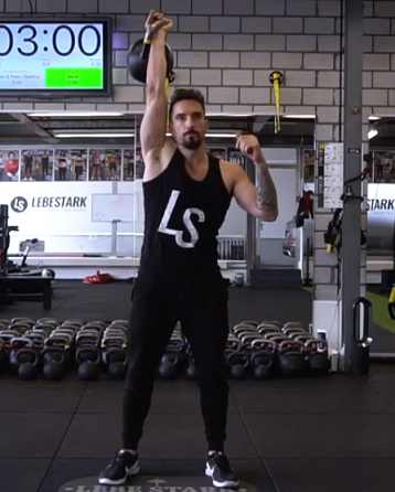 Lebe Stark   shares kettlebell workout tips.