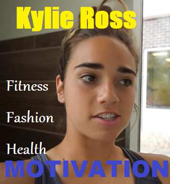 Picture of Kylie Ross with the words Fitness Inspiration