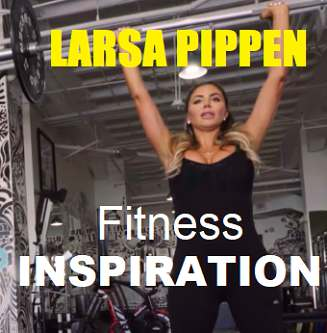 Picture of Larsa Pippen with the words Fitness Inspiration