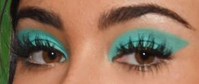 Picture of Madison Beer eyeliner, eyeshadow, and eyelash enhancements