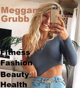 Picture of Meggan Grubb with the words Fitness Inspiration