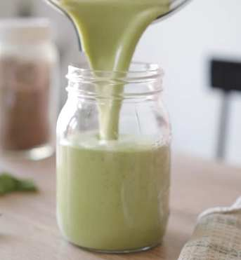 Meghan Livingstone shares her coconut yogurt smoothie idea that's loaded with greens and other very healthy ingredients.