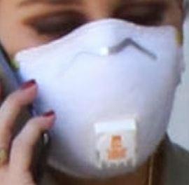 Picture of Olivia Palermo coronavirus mask