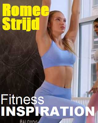 Picture of Romee Strijd with the words Fitness Inspiration
