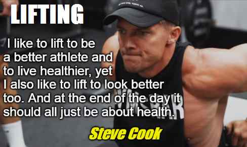 Steve Cook lifting advice.