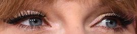 Picture of Taylor Swift eyes, eyelashes, and eyebrows