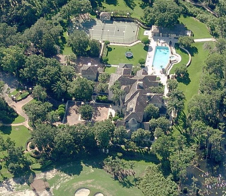Grant Hill home - house picture #2 - aerial photo - Windermere, Florida near Orlando