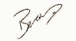 Bear Grylls' signature