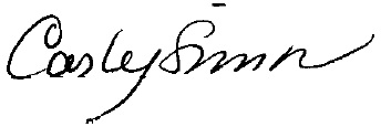 Carly Simon's signature