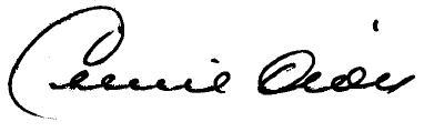 Celine Dion's signature