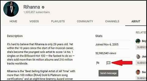 Contact Rihanna Youtube