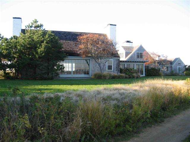 Diane Sawyer's house on Martha's Vineyard - home aerial picture.
