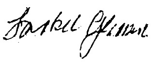 Jackie Gleason's signature
