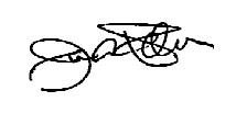 Jim Palmer's signature