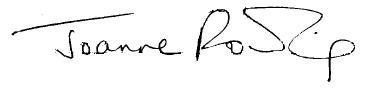 Joanne Rowling signature
