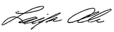 Laila Ali's signature