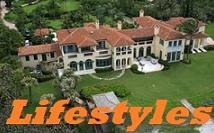 Image of a mansion with the word Lifestyle overlaying it