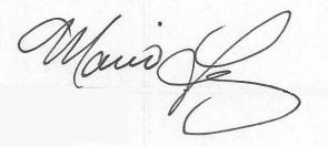 Mario Lopez's signature