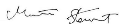 Martha Stewart's signature