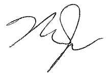 Mike Trout's signature