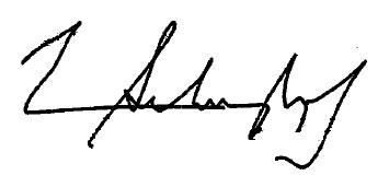 Norman Schwarzkopf's signature