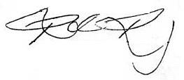 Ronda Rousey's signature