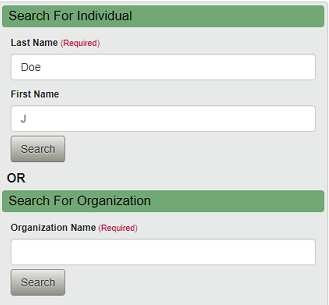 An example of an unclaimed money search from New York state's unclaimed database
