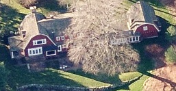 Brian Williams house pictures #3 - home aerial New Canaan, CT